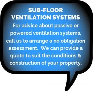 Sub-floor ventilation systems