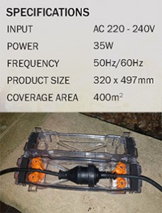 Outdoor Trap Specifications & all weather electrical cord protection